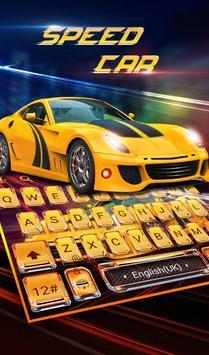 Speed Super Car Keyboard Theme poster