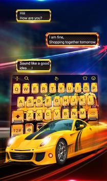 Speed Super Car Keyboard Theme screenshot 1