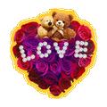 Red Rose Love Keyboard Sticker