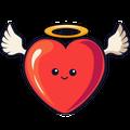 Love Heart Valentine Keyboard Sticker