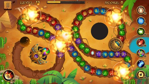 Jungle Marble Blast تصوير الشاشة 9