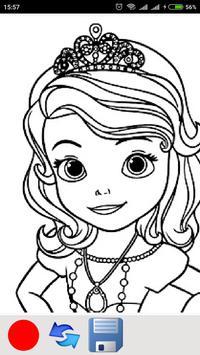 Cute Princess coloring pages screenshot 4