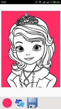 Cute Princess coloring pages screenshot 5
