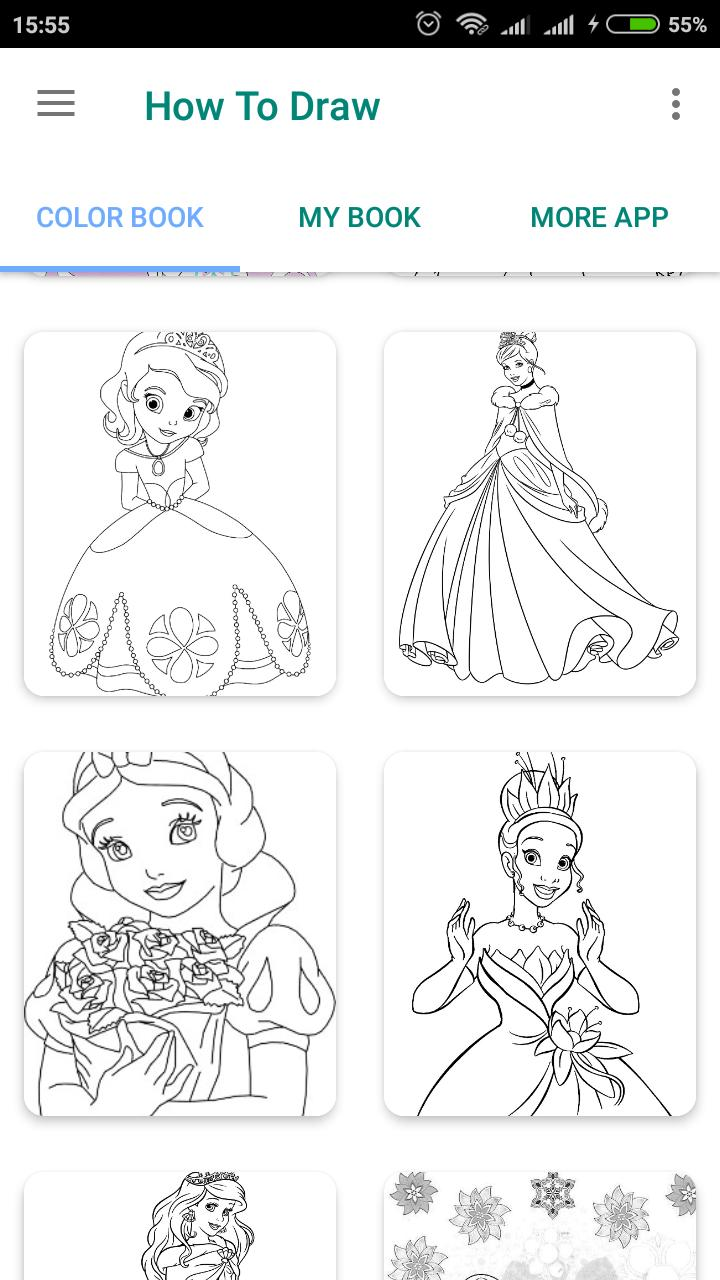 Cute Princess Coloring Pages For Android Apk Download