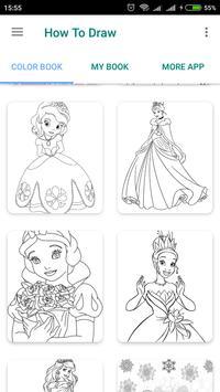 Cute Princess coloring pages screenshot 1
