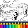 Ausmalbilder für Kinder: Autos Zeichen