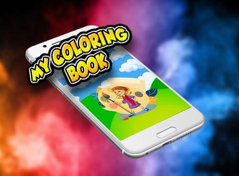 COLORFUL PAINTERS: DRAWING BOOK FACE APP COLOR poster