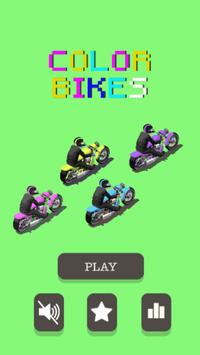 Color Bikes - Paint the Road poster
