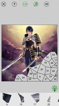 Manga Anime Paint By Numbers Puzzle screenshot 2