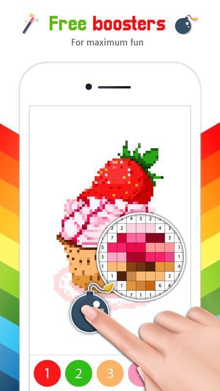 Android Için Sayılarla Boyama Piksel Art Boyama Kitabı Apkyı Indir