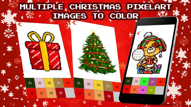 Christmas Color by Number Sandbox Pixelart Pages poster