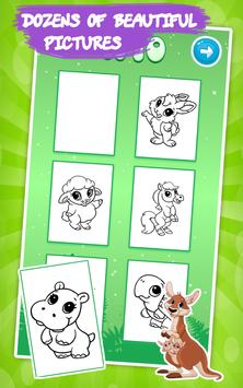 Animals coloring pages : Drawing games for kids screenshot 6
