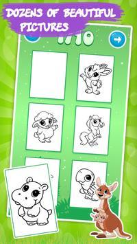 塗り絵 子供のための動物 スクリーンショット 1