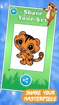 Дети раскраски игры: животные скриншот 4