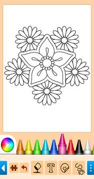 Coloring game for girls and women poster
