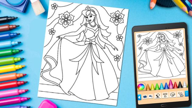 Coloring game for girls and women screenshot 12