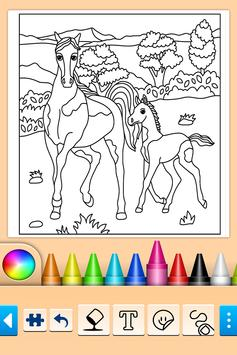 Girls games: Painting and coloring poster