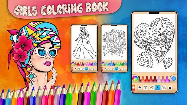 Girls games: Painting and coloring screenshot 21