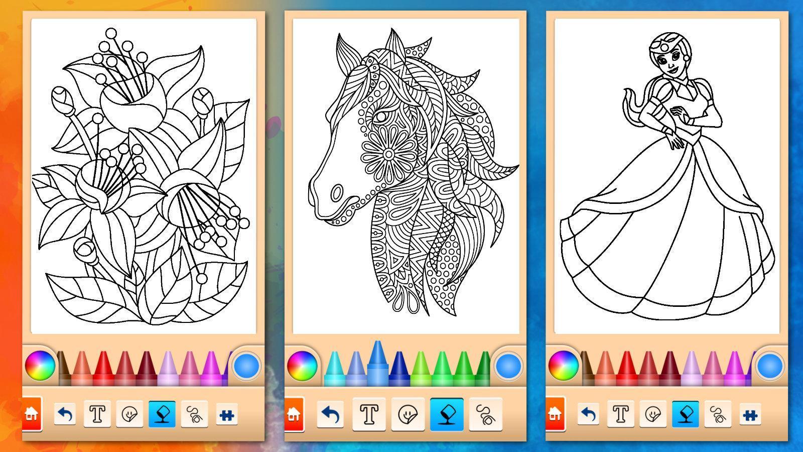 Jeux De Filles Peinture Et Coloriage Pour Android Telechargez L Apk