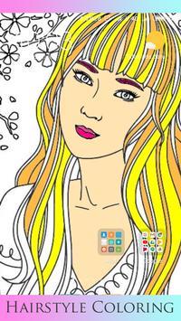 Hair Style Coloring book screenshot 4