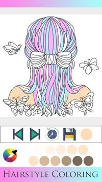 Hair Style Coloring book poster