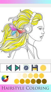 Hair Style Coloring book screenshot 13