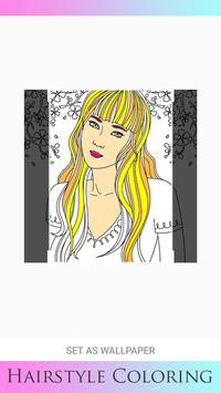 Hair Style Coloring book screenshot 10