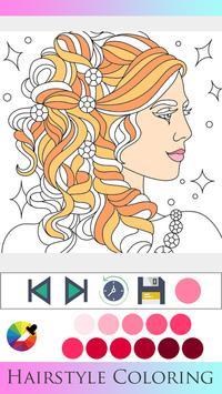 Hair Style Coloring book screenshot 12
