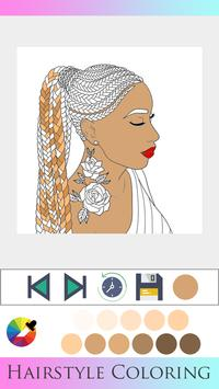 Hair Style Coloring book screenshot 14