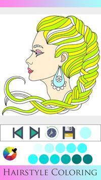 Hair Style Coloring book screenshot 15