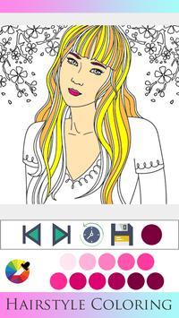 Hair Style Coloring book screenshot 2