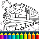 Train game: coloring book for kids APK