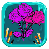 Flowers Coloring Book - Easy Pictures icon