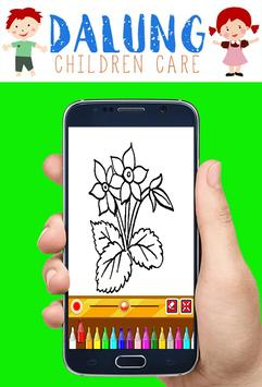 Flowers Coloring Book - Easy Pictures screenshot 3