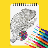 Free Coloring Book - Coloring Game for Adults icon