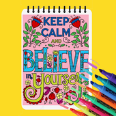 Free Coloring Book - Inspirational Quote Coloring icon