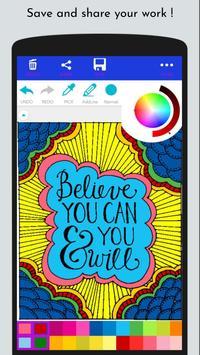Free Coloring Book - Inspirational Quote Coloring screenshot 3