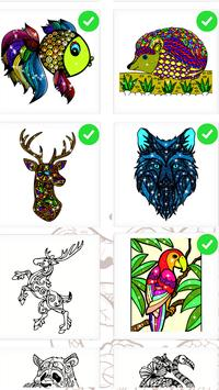 Animals Color By Number Coloring Book Glitter Free