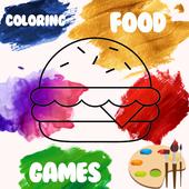 Coloring food book - fun game icon