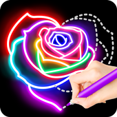 Learn To Draw Glow Flower أيقونة
