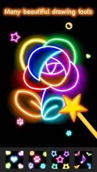 Learn To Draw Glow Flower تصوير الشاشة 4