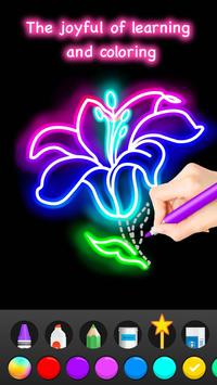 Learn To Draw Glow Flower تصوير الشاشة 6