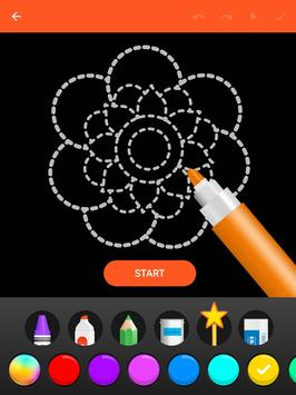 Learn To Draw Glow Flower تصوير الشاشة 9