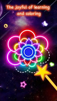 Learn To Draw Glow Flower الملصق