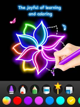 Learn To Draw Glow Flower تصوير الشاشة 13