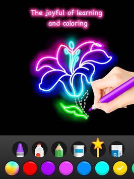 Learn To Draw Glow Flower تصوير الشاشة 14