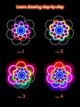 Learn To Draw Glow Flower تصوير الشاشة 18