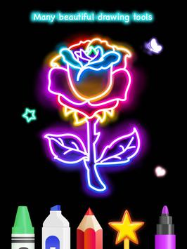 Learn To Draw Glow Flower تصوير الشاشة 19