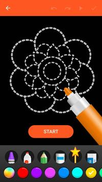 Learn To Draw Glow Flower تصوير الشاشة 1