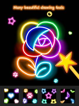 Learn To Draw Glow Flower تصوير الشاشة 20